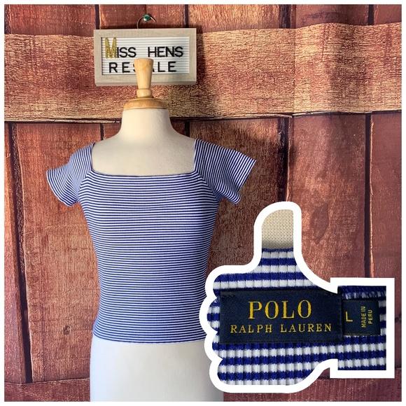 5dc70f6db0d Polo by Ralph Lauren Tops   Final Polo Ralph Lauren Nautical Stripe ...